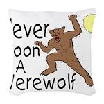 Moon A Werewolf Woven Throw Pillow