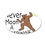 Moon A Werewolf 35x21 Oval Wall Decal