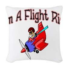Flight Risk Woven Throw Pillow