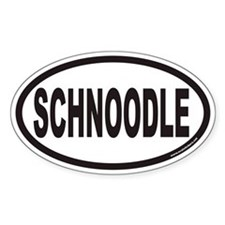 SCHNOODLE Euro Oval Decal
