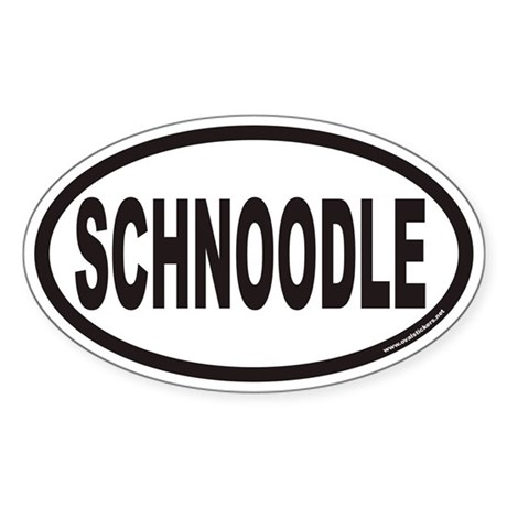 SCHNOODLE Euro Oval Sticker