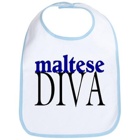 Maltese Diva Bib