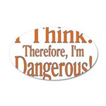 I Think! 20x12 Oval Wall Decal
