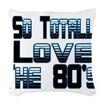 Love The 80's Woven Throw Pillow