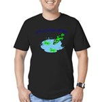 Froggy Dipping Men's Fitted T-Shirt (dark)