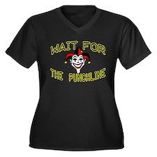Joker Women's Plus Size V-Neck Dark T-Shirt