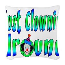 Clownin Around Woven Throw Pillow
