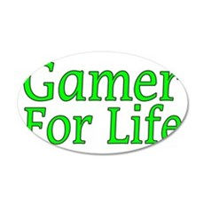 Gamer For Life 35x21 Oval Wall Decal