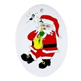 Saxophone christmas Oval Ornaments