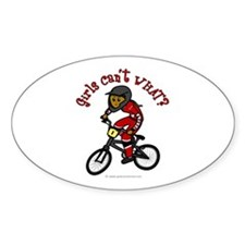 Dark Red BMX Oval Decal