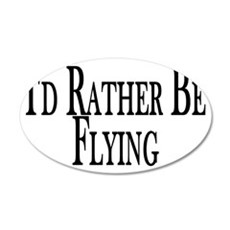 Rather Be Flying Wall Decal