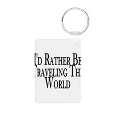 Rather Travel The World Keychains