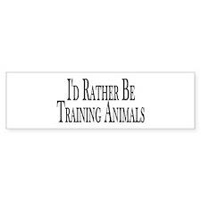 Rather Train Animals Bumper Sticker