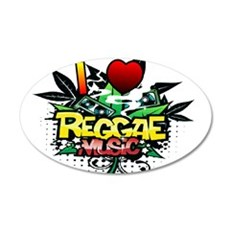 I Heart Reggae Music Wall Decal