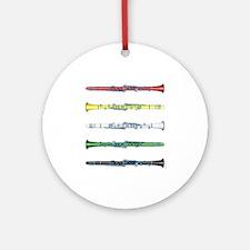 Clarinet Colors Ornament (Round)
