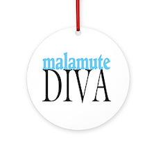 Malamute Diva Ornament (Round)