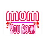 Mom You Rock 35x21 Wall Decal
