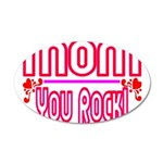 Mom You Rock 35x21 Oval Wall Decal