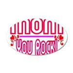 Mom You Rock 20x12 Oval Wall Decal