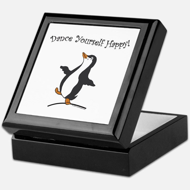 Dancing Penguin Keepsake Box - Jewelry Box