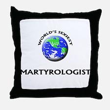 World's Sexiest Martyrologist Throw Pillow