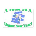 New Year's Toast 20x12 Wall Decal