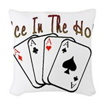 Ace Hole.png Woven Throw Pillow