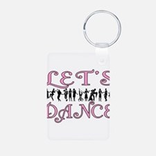 Let's Dance Aluminum Photo Keychain