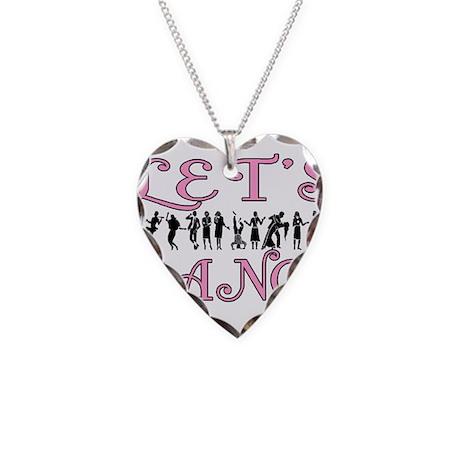 Let's Dance Necklace Heart Charm