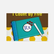 pharmacist I count by 5 1 Rectangle Magnet