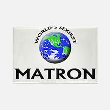 World's Sexiest Matron Rectangle Magnet