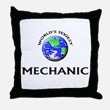 World's Sexiest Mechanic Throw Pillow