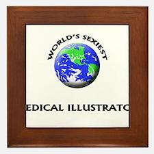 World's Sexiest Medical Illustrator Framed Tile