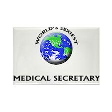 World's Sexiest Medical Secretary Rectangle Magnet