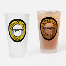 Guns N Moses Drinking Glass