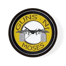 Guns N Moses Wall Clock