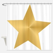 Gold Star Shower Curtain