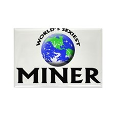 World's Sexiest Miner Rectangle Magnet