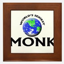 World's Sexiest Monk Framed Tile