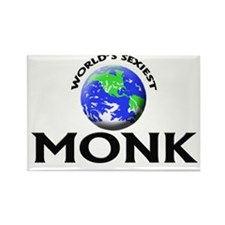 World's Sexiest Monk Rectangle Magnet