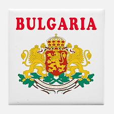 Bulgaria Coat Of Arms Designs Tile Coaster