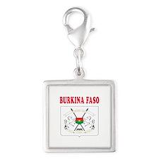 Burkina Faso Coat Of Arms Designs Silver Square Ch