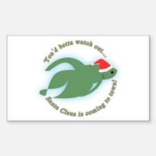 Betta Fish Christmas Rectangle Decal
