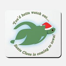 Betta Fish Christmas Mousepad