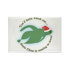 Betta Fish Christmas Rectangle Magnet