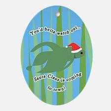 Betta Fish Christmas Oval Ornament
