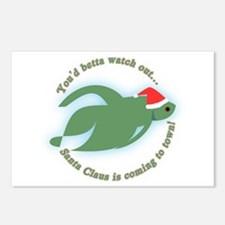 Betta Fish Christmas Postcards (Package of 8)