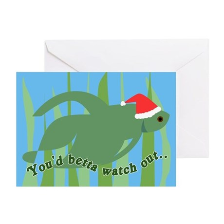 Betta Fish Christmas Greeting Cards (Pk of 10)