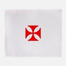 TILE EAC white RED.png Throw Blanket