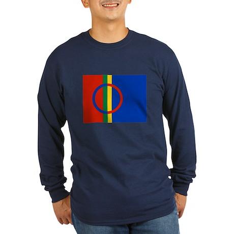 Sami Flag Long Sleeve Dark T-Shirt
